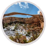 Landscape Arch - Arches National Park Moab Utah Round Beach Towel