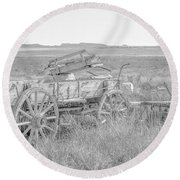 Landscape Galisteo Nm A10k Round Beach Towel