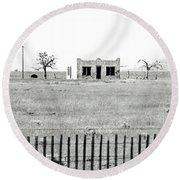 Landscape Galisteo Nm H10u Round Beach Towel