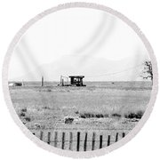 Landscape Galisteo Nm I10b Round Beach Towel