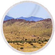Landscape Galisteo Nm I10n Round Beach Towel