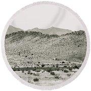 Landscape Galisteo Nm I10q Round Beach Towel