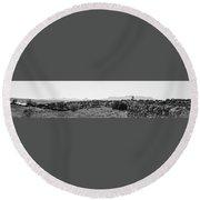 Landscape Galisteo Nm K10i Round Beach Towel