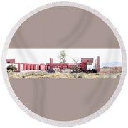 Landscape Galisteo Nm K10l Round Beach Towel