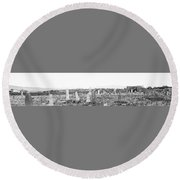 Landscape Galisteo Nm K10q Round Beach Towel