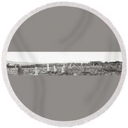 Landscape Galisteo Nm K10r Round Beach Towel