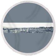 Landscape Galisteo Nm K10t Round Beach Towel