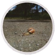 Landscape Of The Snail Round Beach Towel