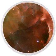 Landscape Orion Nebula Round Beach Towel