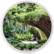 Landscape Rip Van Winkle Gardens Louisiana  Round Beach Towel