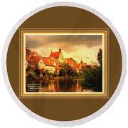 Landscape Scene - Germany. L A With Alt. Decorative Ornate Printed Frame. Round Beach Towel