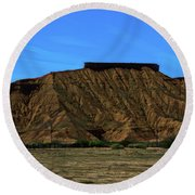 Landscape Scenery Valley Of Fire  Round Beach Towel