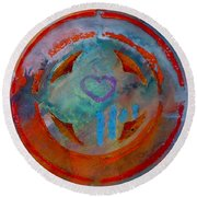 Landscape Seascape Round Beach Towel