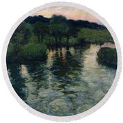 Landscape With A River Round Beach Towel