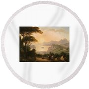 Landscape With Decorative Round Beach Towel