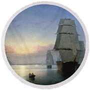 Lane: Boston Harbor Round Beach Towel