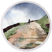 Lane To Quarry Pole Moor Round Beach Towel