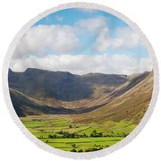 Langdale Fell And Pikes Panorama Round Beach Towel