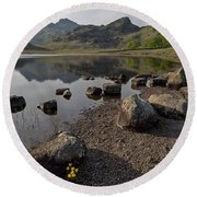 Langdale Pikes And Blea Tarn Round Beach Towel