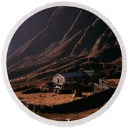 Langtang Village Round Beach Towel