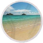 Lanikai Beach 4 - Oahu Hawaii Round Beach Towel