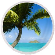 Lanikai Palm Round Beach Towel