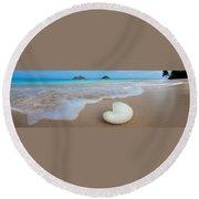 Lanikai Paper Nautilus Round Beach Towel