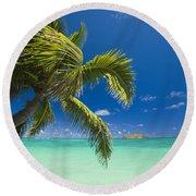 Lanikai Seascape Round Beach Towel