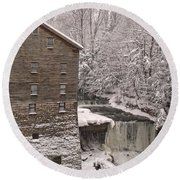 Lanterman's Mill Round Beach Towel