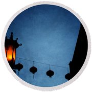 Lanterns- Art By Linda Woods Round Beach Towel