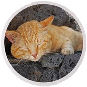Lanzarote Ginger Round Beach Towel