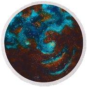 Lapis Lazuli Nebula  Round Beach Towel