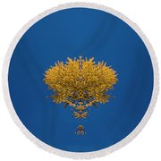 Larch Kaleidoscope 3 Round Beach Towel