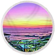 Larcomar Round Beach Towel