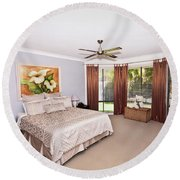 Large Bedroom Round Beach Towel