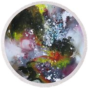 Large Color Fever Art23 Round Beach Towel