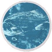 Largemouth Bass 8 Round Beach Towel