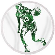 Larry Bird Boston Celtics Pixel Art 10 Round Beach Towel