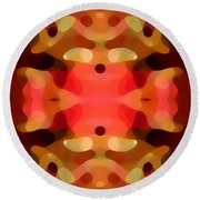 Las Tunas Abstract Pattern Round Beach Towel