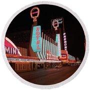 Las Vegas 1983 #4 Round Beach Towel