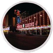 Las Vegas 1983 #5 Round Beach Towel