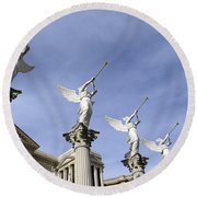 Las Vegas Angels Round Beach Towel
