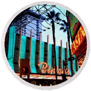 Las Vegas Lights II Round Beach Towel