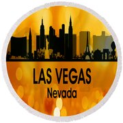Las Vegas Nv 3 Vertical Round Beach Towel