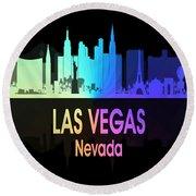 Las Vegas Nv 5 Vertical Round Beach Towel