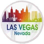 Las Vegas Nv  Round Beach Towel