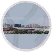 Las Vegas Pano Section 2 Of 3 Round Beach Towel