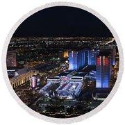 Las Vegas Strip 1 Round Beach Towel