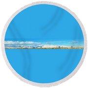 Las Vegas Strip And Mt Charleston Round Beach Towel