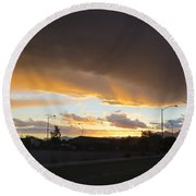Las  Vegas  Sunset  2 Round Beach Towel